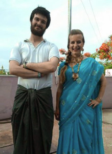 Antoine and Julie in traditional clothes